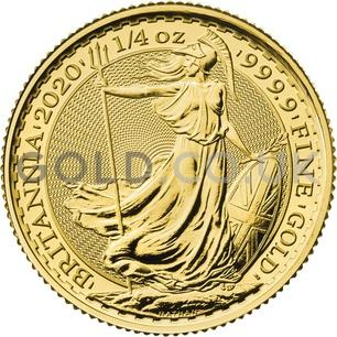 Quarter Ounce Britannia Gold Coin Gift Boxed (2020)