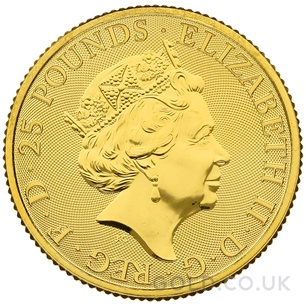 Gold 1/4oz White Greyhound of Richmond Coin (2021)