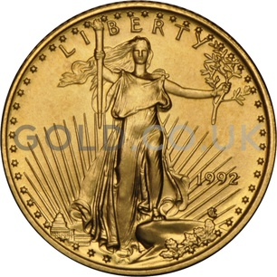 1992 1/10 oz Gold America Eagle