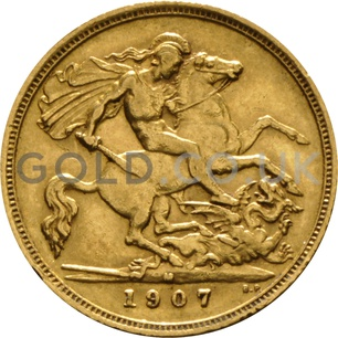 1907 Edward VII Gold Half Sovereign (Melbourne Mint)