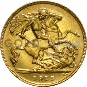1915 George V Gold Half Sovereign (Perth Mint)