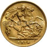 1914 George V Gold Half Sovereign (London Mint)