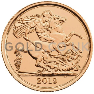 Half Sovereign Gold Coin in Gift Box (2019)
