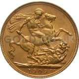 1909 Edward VII Gold Sovereign (Perth Mint)