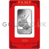1oz PAMP Silver Year of the Rat (2020)