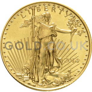 2014 1/4 oz Gold America Eagle