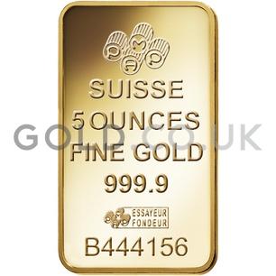 5oz PAMP Gold Bar