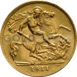 1911 George V Gold Half Sovereign (London Mint)