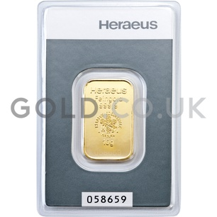 10g Heraeus Gold Bar