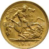 1915 George V Gold Half Sovereign (Sydney Mint)