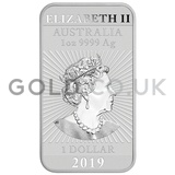 1oz Dragon Rectangular Silver Bar (2019)