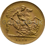 1930 George V Gold Sovereign (South Africa Mint)
