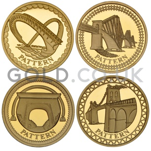 One Pound Gold Coin pattern