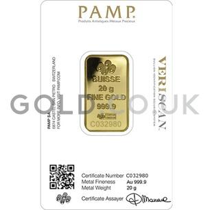 20g PAMP Gold Bar