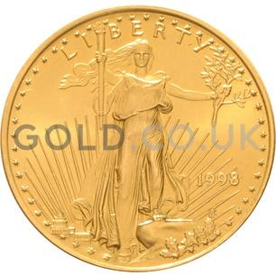 1998 1/2 oz Gold America Eagle