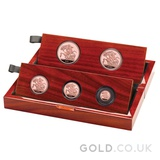 Gold Proof Sovereign Five Coin Set - Fifth Head (2021)