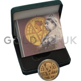 Gold Proof Five Pound, 100th Victoria Anniversary Coin Boxed (2001)