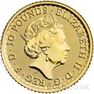 Tenth Ounce Gold Britannia Coin (2021)