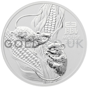 Silver Perth Mint Year of the Mouse 5oz (2020)