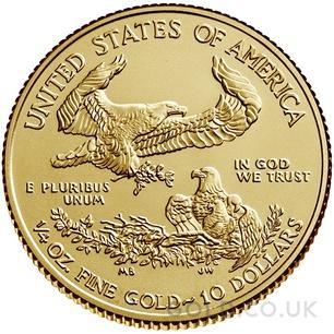 Quarter Ounce American Eagle Gold Coin (2020)