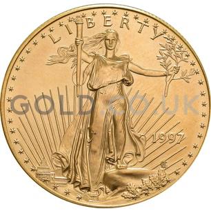 1997 1 oz Gold America Eagle