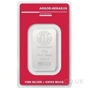 20g Argor-Heraeus Silver Bar