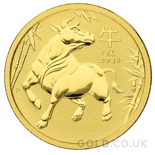 Tenth Ounce Gold Perth Mint Year of the Ox (2021)