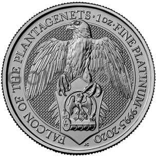 Platinum The Falcon of the Plantagenets 1oz Boxed (2020)