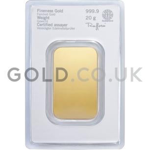 20g Heraeus Gold Bar