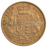 Victoria, Young Head Shield Back - Gold Sovereign
