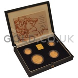 Gold Proof Sovereign Four Coin Boxed Set (2000)