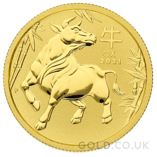 Gold Perth Mint Year of the Ox 1/4oz (2021)