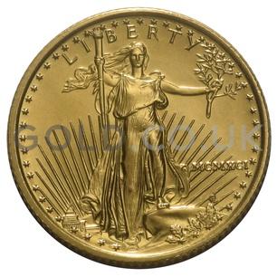 1991 1/10 oz Gold America Eagle