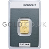 5g Heraeus Gold Bar