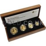 Proof Gold Britannia 4-Coin Box Set (2008)