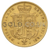 1872 Victoria Young Head Shield Back Gold Half Sovereign (London Mint)