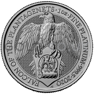 Platinum The Falcon of the Plantagenets 1oz (2020)
