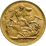 1907 Edward VII Gold Sovereign (Melbourne Mint)