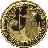 2008 Tenth Ounce Proof Britannia