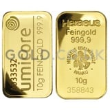 10g Gold Bars (Pre Owned)