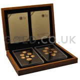 Gold UK Coinage, Shield and Emblems Collection Boxed (2008)
