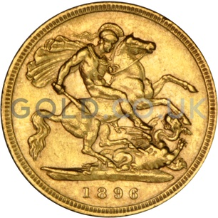 1896 Victoria  Old Head Gold Half Sovereign (London Mint)