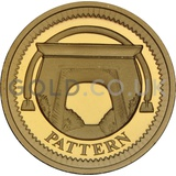 One Pound Gold Coin - Egyptian Arch Pattern (2003)