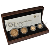 Gold Proof Sovereign Four Coin Boxed Set (2008)