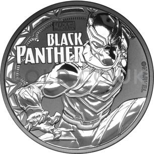 1oz Silver Black Panther (2018)