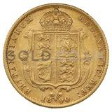1890 Victoria Jubilee Head Shield Back Gold Half Sovereign (London Mint)