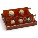 Gold Proof Sovereign Five Coin Boxed Set (2014)