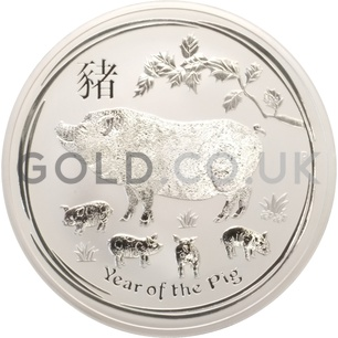 Silver Year of the Pig 10oz (2019)