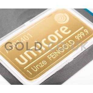 1oz Umicore Gold Bar