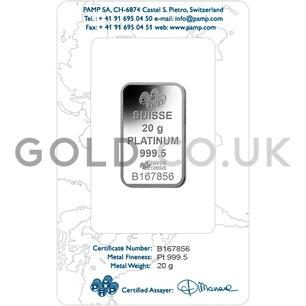 20g Platinum Bar